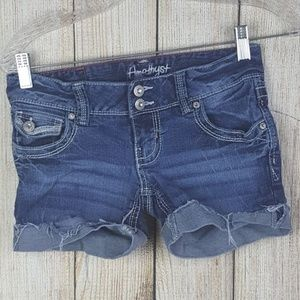 Amethyst Denim Shorts Womens Size 0 Cuffed Cut Off